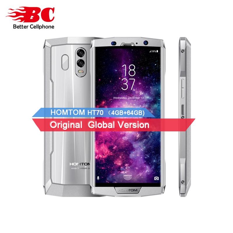 HOMTOM HT70 MT6750T octa-core 1.5 ghz Android7.0 10000 mah D'empreintes Digitales OTA 4 gb RAM 64 gb ROM 6.0