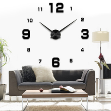 Fashion 3D 2016 new sale wall clock clocks reloj de pared watch 3d diy Acrylic mirror