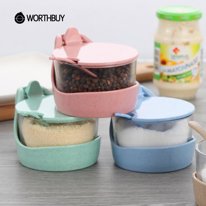 Kitchen Fittings Companies In Botswana: Aliexpress.com : Buy WORTHBUY Wheat Straw Spice Jar