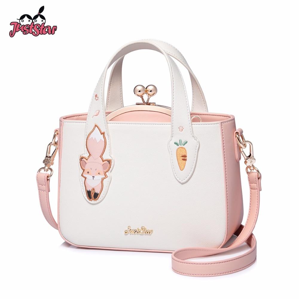 Bagaj ve Çantalar'ten Üstten Saplı Çanta'de SADECE YıLDıZ Marka kadın deri çantalar Bayanlar Karikatür Sincap Nakış Kompozit kol çantası Çanta Kadın postacı çantası'da  Grup 1