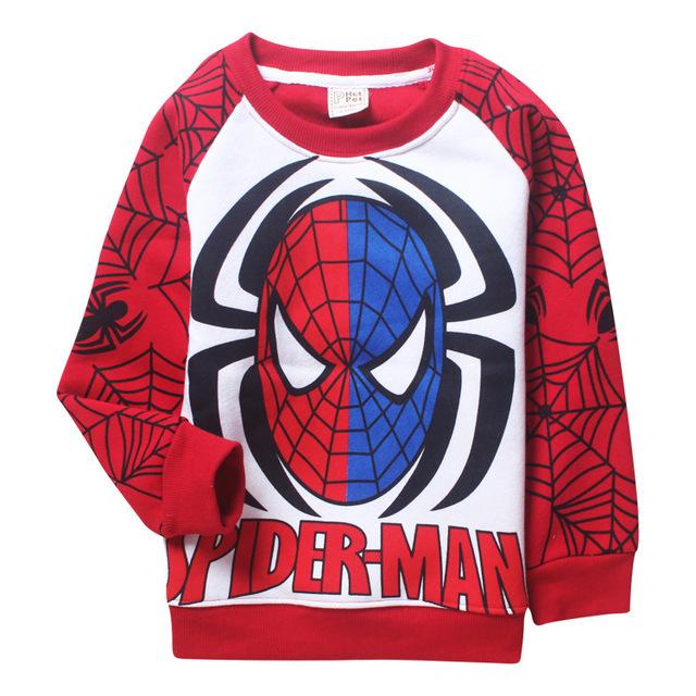 Niños sudaderas Fleece Cartoon Spiderman niños espesantes ropa caliente para niños niñas moda marca niña sudadera