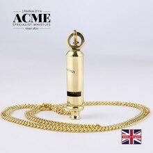 ACME Metropolitan 15/Gold chain British Police whistle wild survival fashion trend gold brass laser engraving necklace