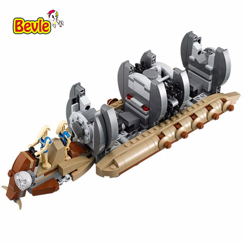 Bevle Bela 10374 Space Wars Combat Robot Troop Carrier Building Block Toys Compatible with LEPIN 75086 bela 10374 star wars 7 battle droid troop carrier 565pcs building block educational toys for children compatible legoe