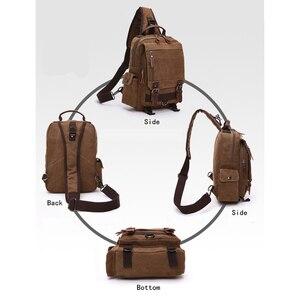 Image 5 - Scione High Quality Men Chest Bag Casual Travel Handbag Messenger Bags Unisex Female Crossbody Shoulder Bag Small bolsas mujer