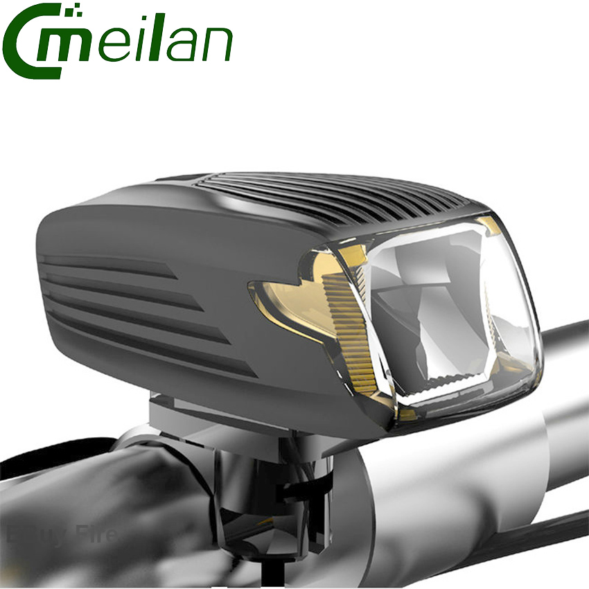 Meilan X1 Bicycle Bike Light Cycling LED Light German Certification USB Rechargeable Intelligent waterproof Lamp Accessories solar energy usb rechargeable 2 in 1 bicycle safety warning lamp cycling bike led front light waterproof headlight black white