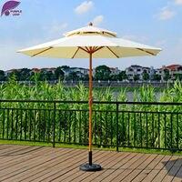PurpleLeaf Double Top Patio Umbrella Outdoor Garden Furniture Market Middle Column Umbrella