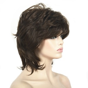 Image 3 - StrongBeauty Women Synthetic wig Short Hair Black/Blonde Natural wigs Capless Layered Hairstyles