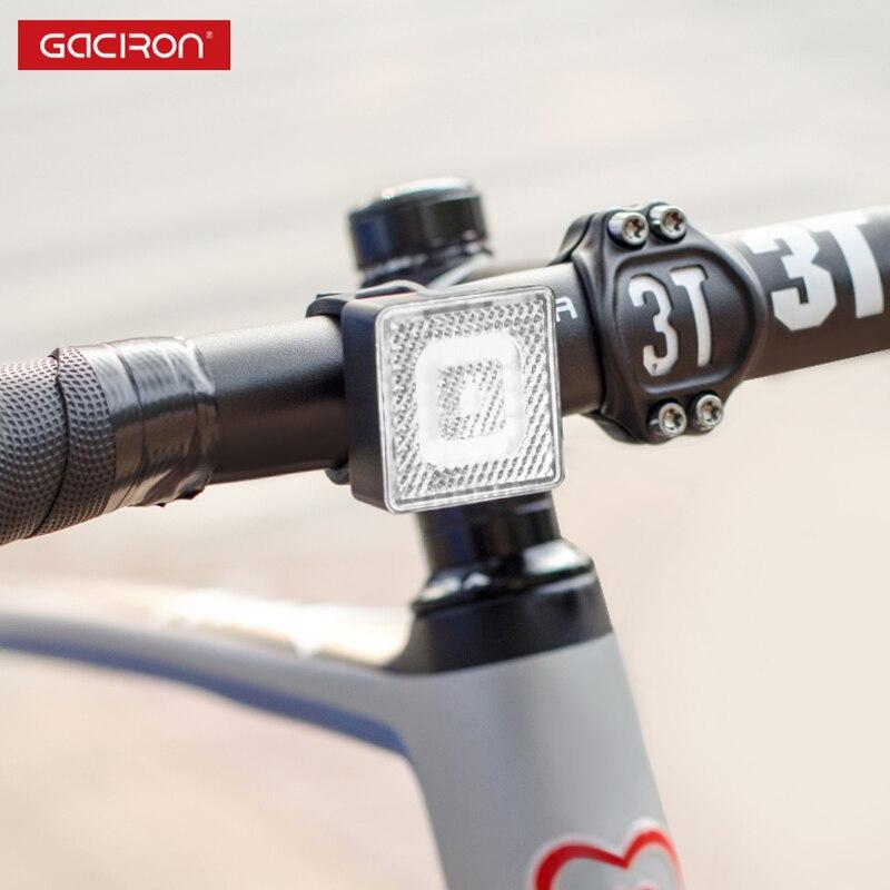Spor ve Eğlence'ten Bisiklet Işığı'de GACIRON W08F 80 uyarı ön ışık 80 lümen LED lamba su geçirmez bisiklet ışığı USB şarj edilebilir bisiklet aksesuarları