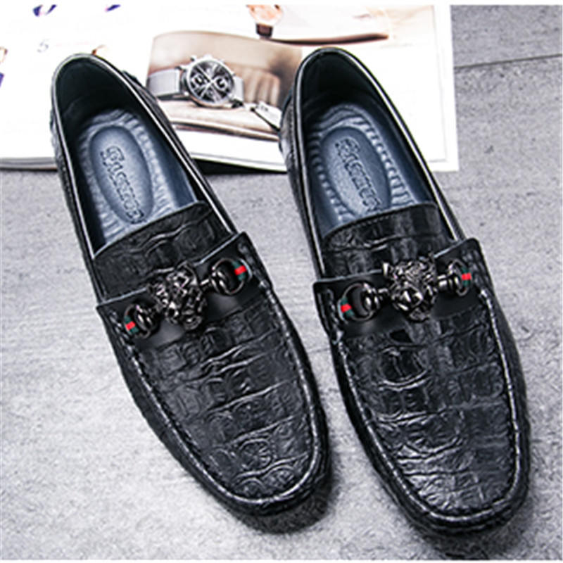 De Designer brown Modelo blue Luxo Fashional Couro Dos Sapatas Excelente Qualidade Realmente Genunie Sapatos Black Homem Homens UIqHEU