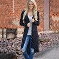 2017 Продвижение Длинные Стиль Женщины Кардиган Свободные Свитера С Длинным Рукавом Трикотажные Пиджаки Пальто Куртки Трикотаж Свитер Кардиган Женщин