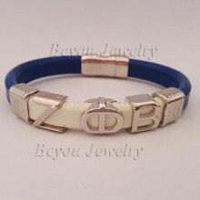 customized ZETA PHI BETA Sorority divine Fraternity ZPB leather magnetic bracelet bangle