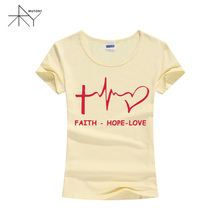 Women's Christian T-Shirt Faith-Hope-Love  (Slim Version)