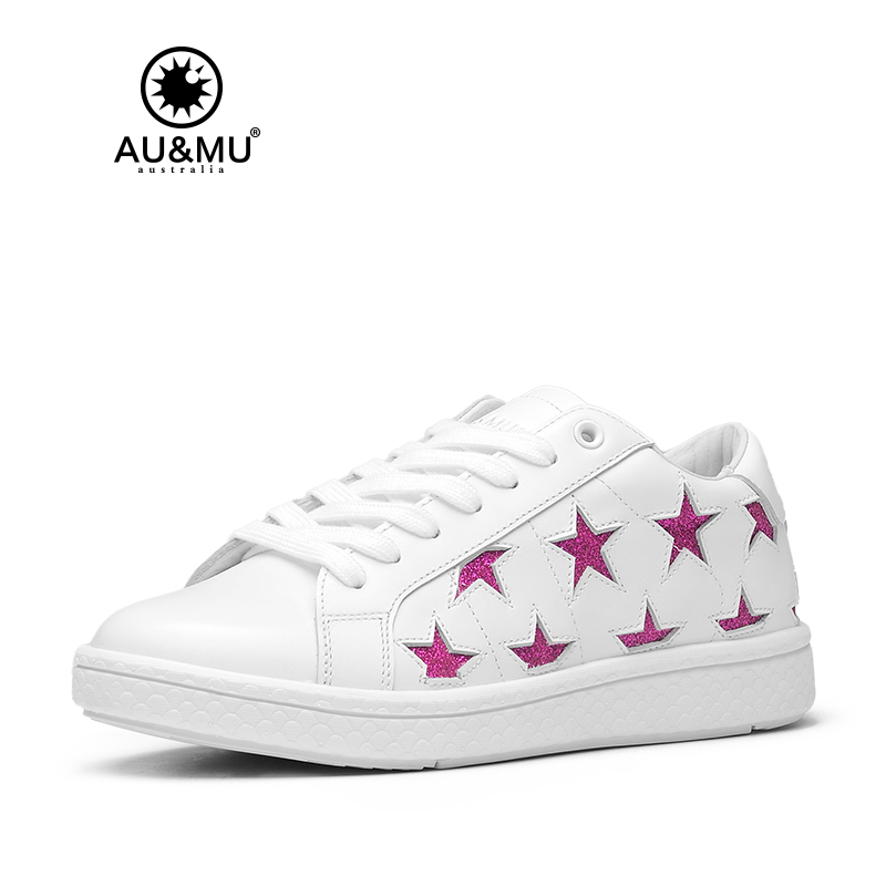 2018 AUMU Australia Spring Summer Full-bodied Color Star Series Casual Shoes G912 2018 aumu australia rhinestone shiny