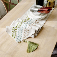 Modern Quality Blending Table Runner For Dinner Tea Hallway 1pc Dustproof Table Runners Home Decor Embroidered Table Runners