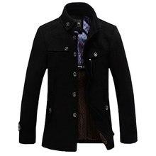 Марка Одежды 2016 Зимние Кофты Для Мужчин И Парки стоячим воротником мужская ветровка куртка утолщенной шерстяное пальто MC347
