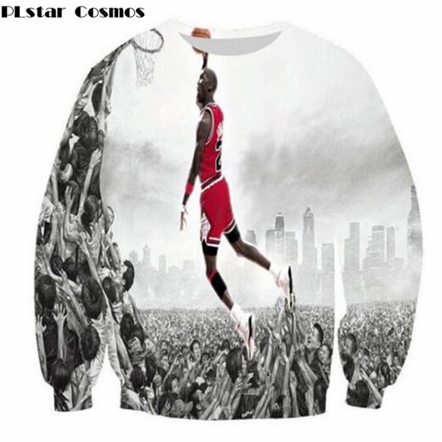 PLstar Cosmos 2018 New Casual Jumper men/women 3D print hoodies hip hop sweatshirts Jordan 23 jumper Summer Brand design clothes