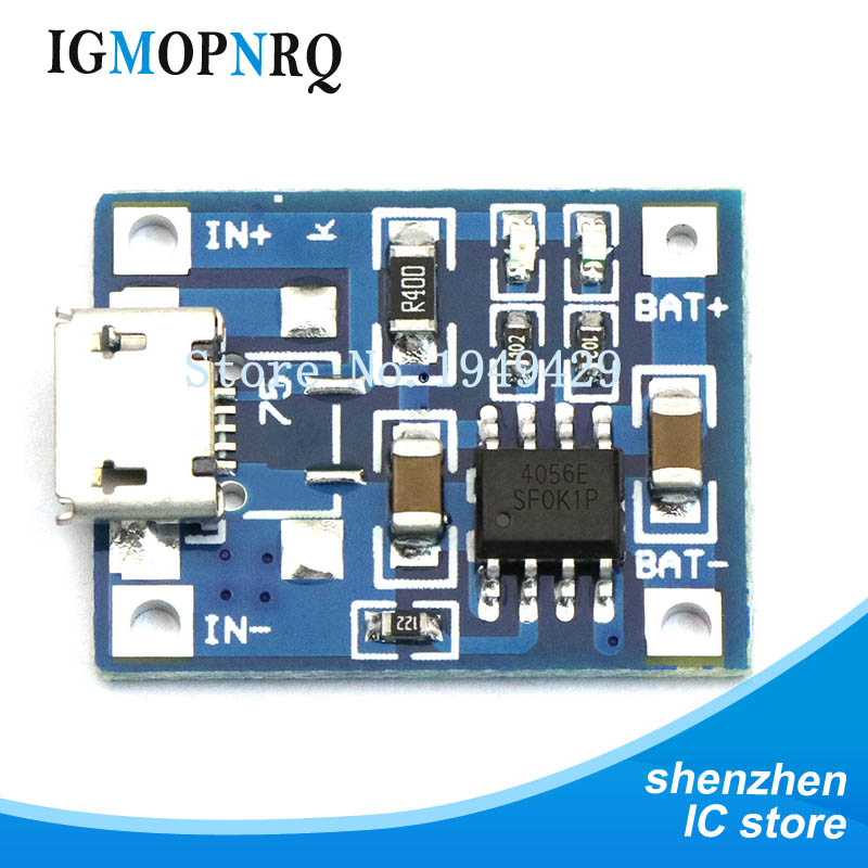 10pcs TP4056 1A Lipo Battery Charging Board Charger Module lithium battery DIY Port Mike USB Hot sale
