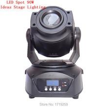 Envío gratis 2 unids/lote nueva súper ventas 90 W LED Spot luz principal móvil / ee.uu. Luminums 90 W LED DJ luz