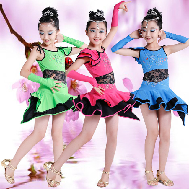bc813ce4f Children International Standard Ballroom Dance Dress for Competition Girls  Latin Dance Skirt Modern Dance Costume