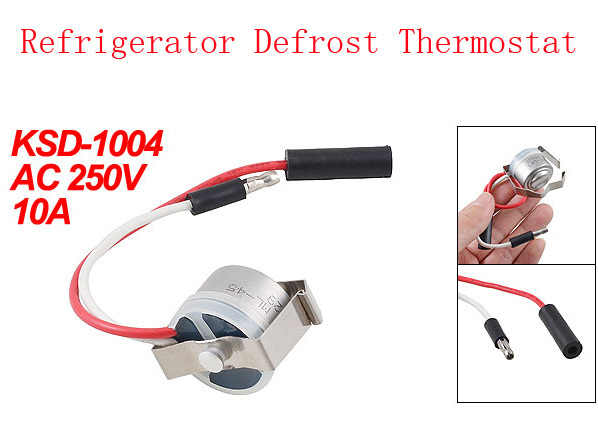 AC 250V 10A 2 Wires Temperature Thermostat Switch KSD-1004 for Freezer 4pcs