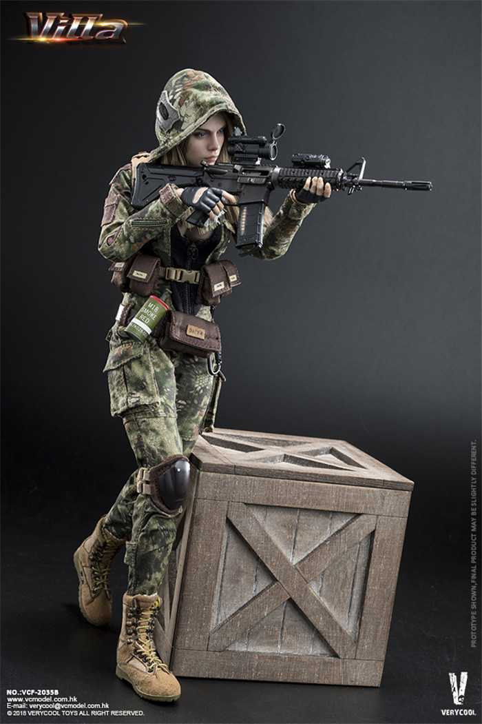Full set with head and body 1 6 VERYCOOL VCF 2035 Villa Sister Flower Female Solider Figure Collection Doll Toys Gift in Action Toy Figures from Toys Hobbies