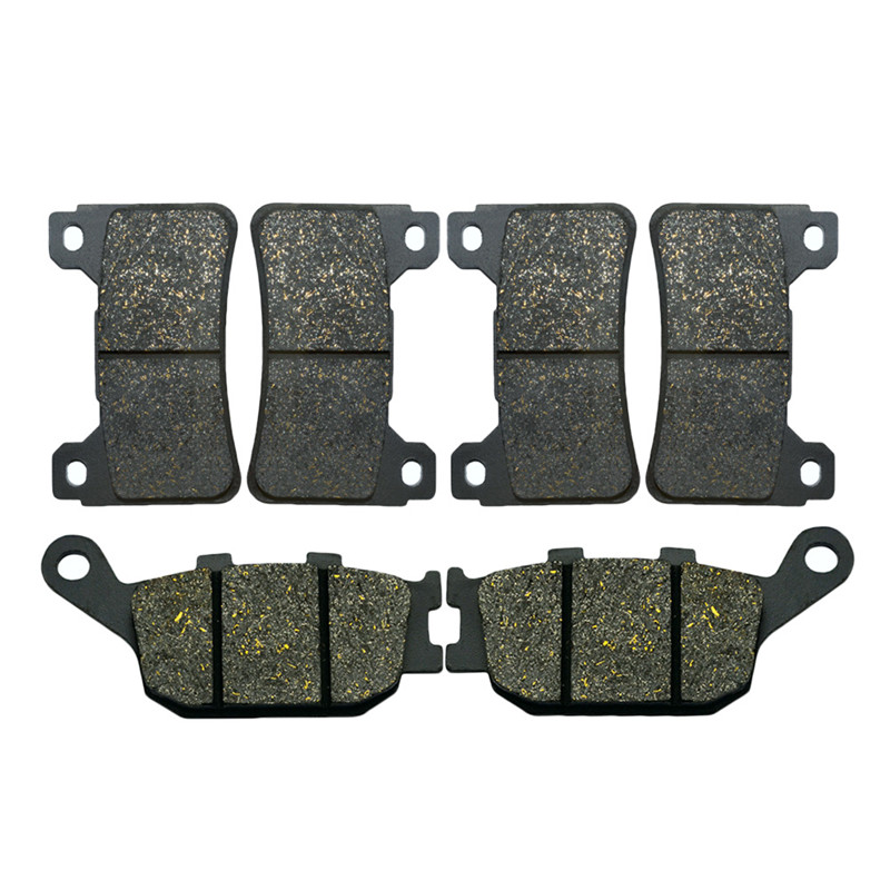 Motorcycle Front and Rear Brake Pads for HONDA CBR 600 RR (2005-2006) CBR 1000 RR (2004-2005) Brake Disc Pad Kit 2 pairs motorcycle brake pads for honda cbr250 cbr 250 rj rk rk2 mc19 1988 1989 black brake disc pad
