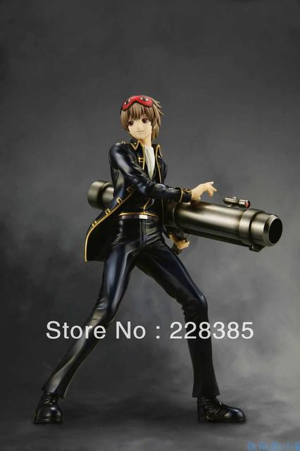 Japan Anime Gintama silver soul okita sougo action figure resin figure toy 19.5cm Free shipping