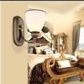 Americano do Vintage arandela criativo vidro luz conduzida da parede luminárias para casa iluminação de cabeceira parede lâmpada Lampe Murale