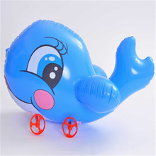 Cute Cartoon Animal Boys Girls Inflatable Toy Hand Pull Balloons Toys Pulling Car Party Decorations Children Outdoor Home Toy summer hot sale inflatable ocean animal balloons inflatable octopus tentecle with free fan blower inflatable outdoor toy
