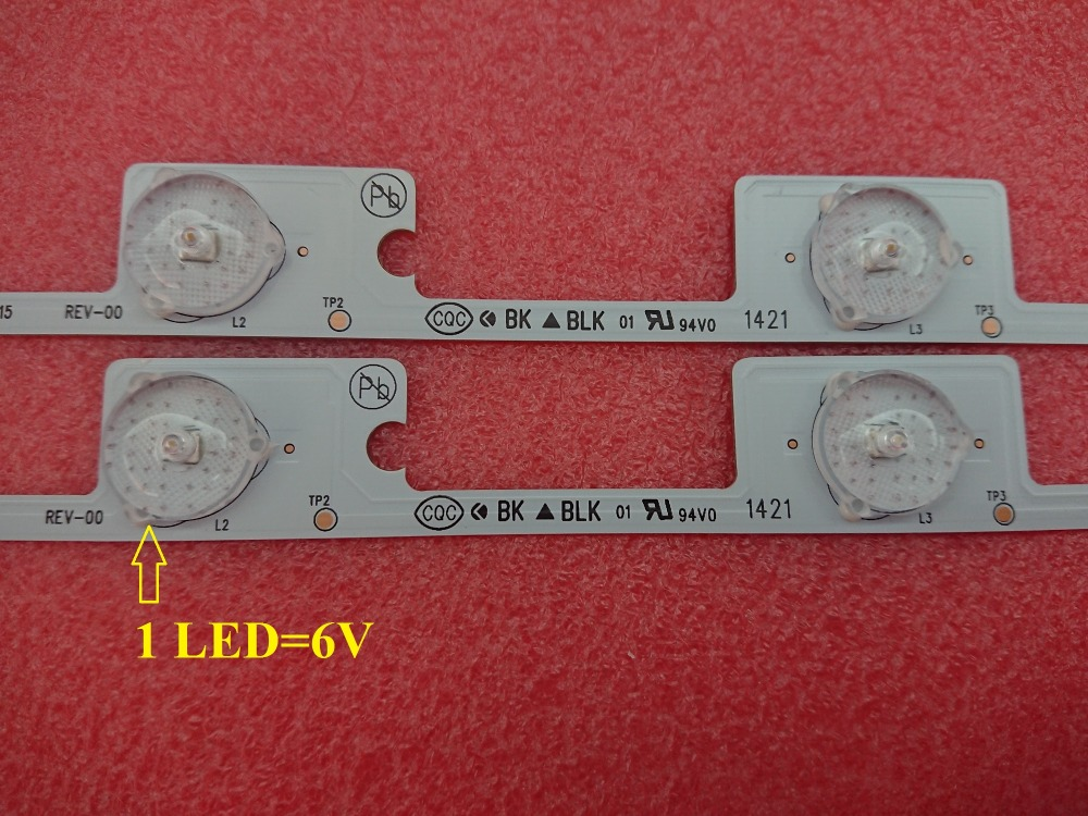 Image 4 - 100 PCS*6 LEDS*6V 442mm NewTV backlight LED strip bar for KDL48JT618U KDL48JT618A 35018539 35018540-in Replacement Parts & Accessories from Consumer Electronics