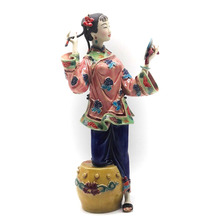 Dolls Chinese Culture Ceramic Female Statues Sculpture Arts Antique Porcelain Statue Collectibles Gifts