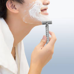 Мужская влажная Безопасная бритва для бритья подарок для друга Бритва Ручка Парикмахерская Мужская Ручная борода Уход за волосами