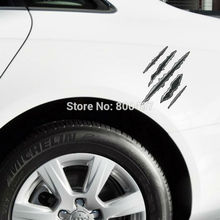 Vivid Motorcycle Scratch authentic Scars Car Styling Car-covers Decal for Tesla Ford Chevrolet Volkswagen Honda Hyundai Kia Lada
