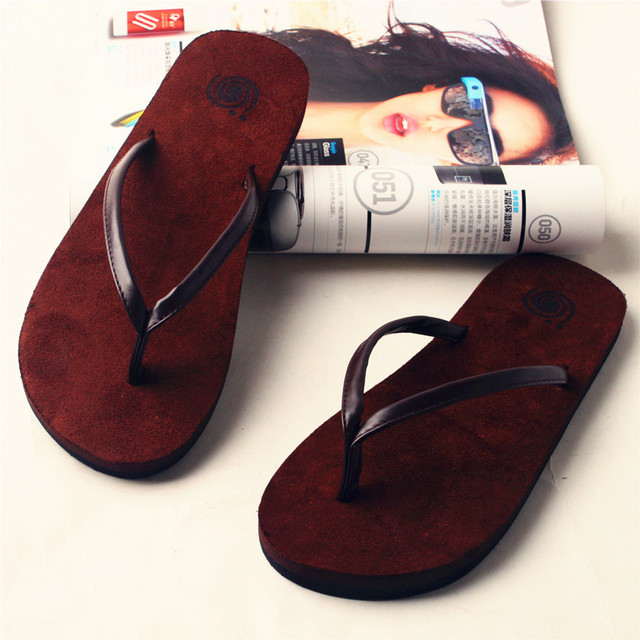 54e1abc1a9274 American eagle couples flip-flops male ladies slippers antiskid summer cool  thick skin drag
