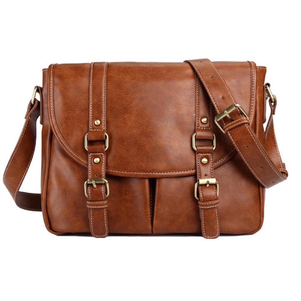 Travel Bag Casual Business Leather Men Bag Black Fashion Messenger Crossbody Bags PU Coffee Male Duffel Bag Travel Organizers