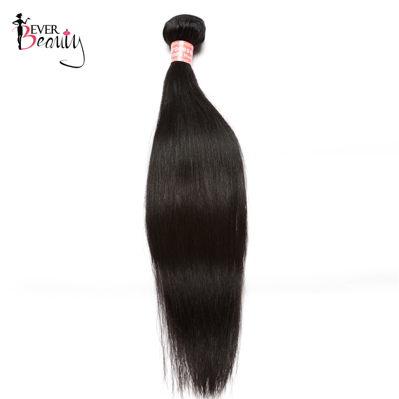 Straight Brazilian Virgin Hair Bundles 100% Human Hair Weaving Extensions 1 Piece Only Natural Black 10-26inch