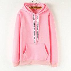 Hoodies Women 2019 Brand Female Long Sleeve Solid Color Hooded Sweatshirt Hoodie Tracksuit Sweat Coat Casual Sportswear B0307 2