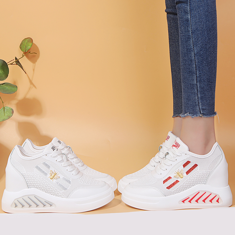 2019 Summer New Women Chunky Sneakers Casual Comfoetable Heightening Shoes Breathable Mesh Platform White Sneakers Dad Shoes2019 Summer New Women Chunky Sneakers Casual Comfoetable Heightening Shoes Breathable Mesh Platform White Sneakers Dad Shoes