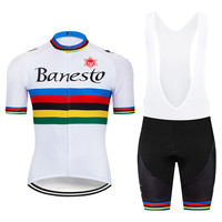 c367ccead 2018 Banesto Poland champion Cycling Jersey Short Sleeve Maillot Ciclismo  and Cycling Shorts Cycling