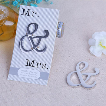 (50 pieces/lot)New Arrivals!Free Shipping Wedding Party Favor and Giveaways for Guest Mr. & Mrs Beer Bottle Opener BO033W