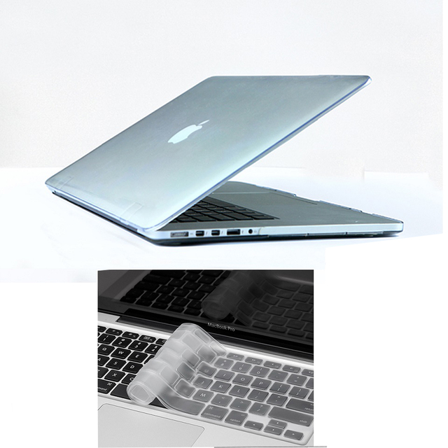 "10colors transparent crystal Shell Cover For Macbook Pro retina 13"" 15""  case+ Silicone Keyboard skin Laptop cases accessories"