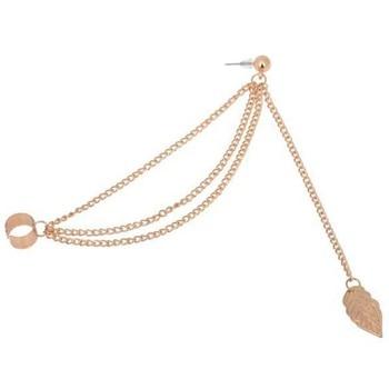 Personality Leaf Tassel Clip Earrings for Women Ear Cuff Bijoux Gold Silver Color 3