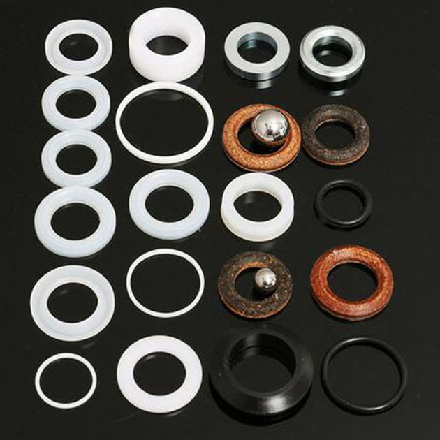 1 Set Of Sprayer Seals Plastic Cowhide Blue Black Aftermarket V-packing Kit For Graco Paint Sprayer Ultra 390 395 495 595 aftermarket 288103 chromex rod for 7900hd mark x texture sprayer