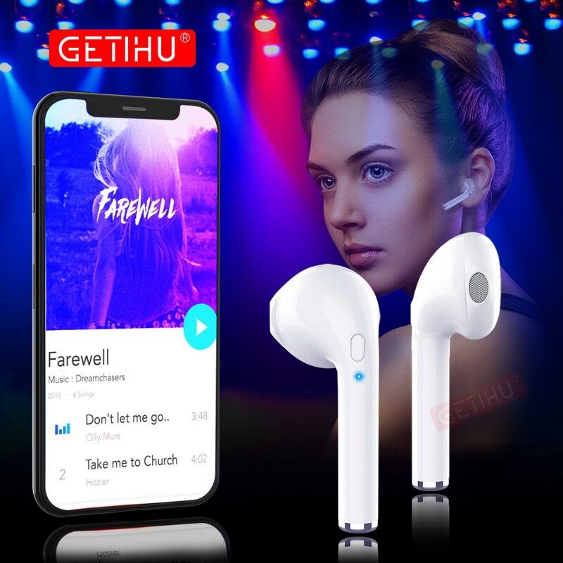 GETIHU Bluetooth Kopfhörer Sport Headset in Ohr Knospen Drahtlose Kopfhörer Mini Kopfhörer Ohrhörer Für iPhone Samsung stereo