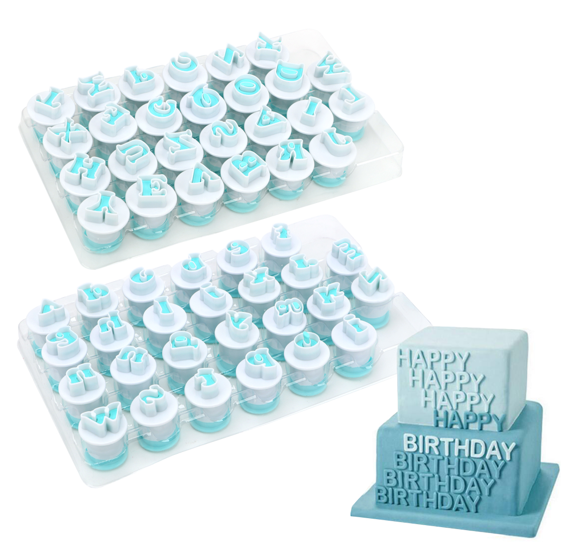 Fondant Cake Alphabet Plunger Set
