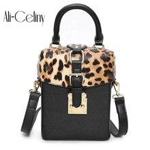 Известный бренд индивидуальные дамские сумочки Леопардовый принт коробка мини куб бренд оригинальный дизайн сумки через плечо для женщин курьерские Сумки