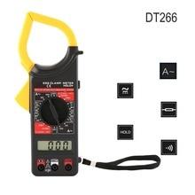 DT266 Digital Current Clamp Meter Buzzer Data Hold Non-Contact Multimeter Voltmeter Ohmmeter Ammeter Ohmmeter Volt AC DC Meter