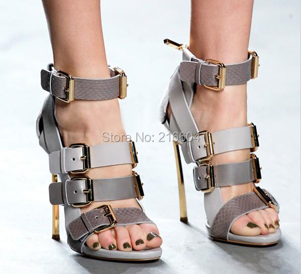 Strappy Gray Heels Promotion-Shop for Promotional Strappy Gray ...