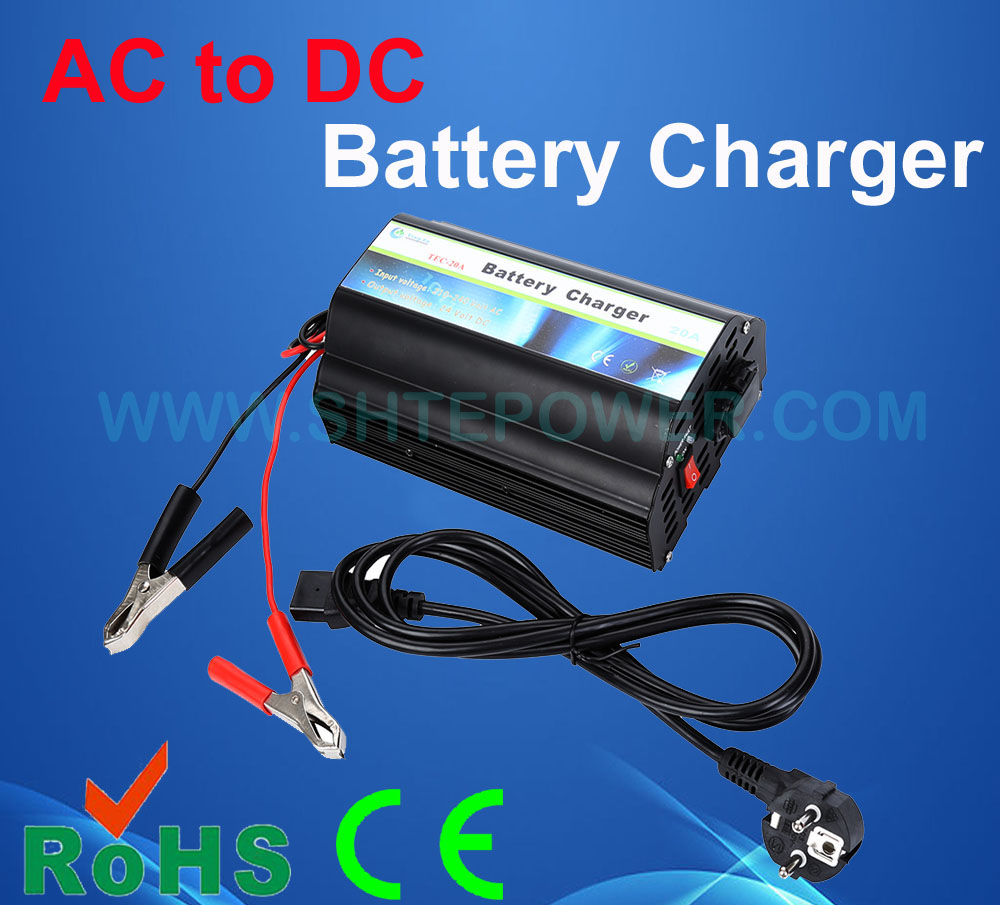 Lead Acid or Gel AC 220V 230V 240V to DC 12V 20A Car Battery Charger hb 2706105 27 6v1 5a 13 9w us plug charger for lead acid battery black ac 100 240v