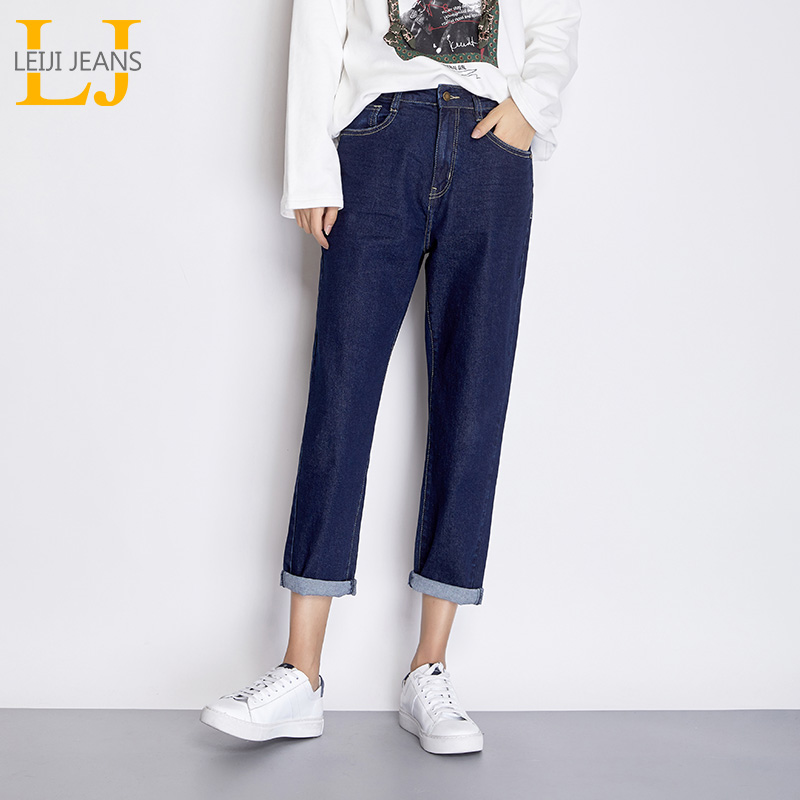 Bottoms Guuzyuviz Vintage Plus Size Autumn Winter Jeans Woman Casual High Waist Loose Washed Cotton Denim Haren Pants Mujer Highly Polished Jeans